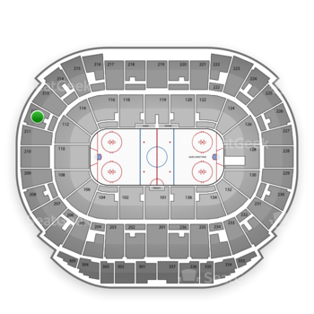 Edmonton Oilers at Northlands Coliseum Section 212 View