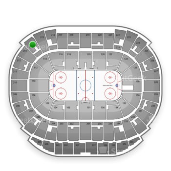 Edmonton Oilers at Northlands Coliseum Section 214 View