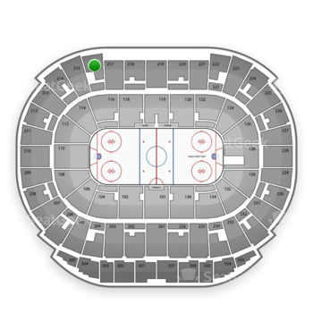 Edmonton Oilers at Northlands Coliseum Section 216 View