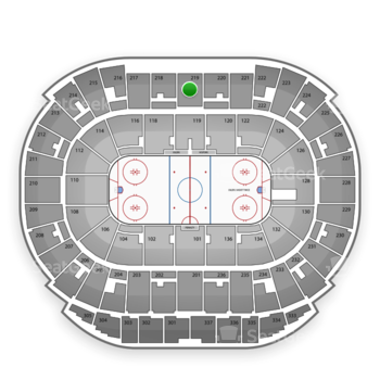 Edmonton Oilers at Northlands Coliseum Section 219 View