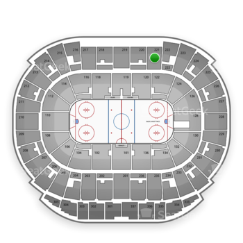 Edmonton Oilers at Northlands Coliseum Section 221 View