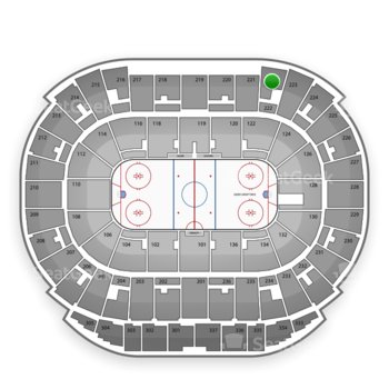 Edmonton Oilers at Northlands Coliseum Section 222 View