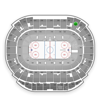 Edmonton Oilers at Northlands Coliseum Section 223 View