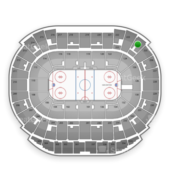 Edmonton Oilers at Northlands Coliseum Section 224 View