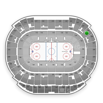 Edmonton Oilers at Northlands Coliseum Section 225 View