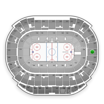 Edmonton Oilers at Northlands Coliseum Section 228 View