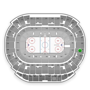 Edmonton Oilers at Northlands Coliseum Section 229 View