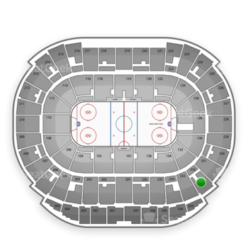 Edmonton Oilers at Northlands Coliseum Section 232 View