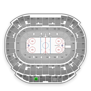 Edmonton Oilers at Northlands Coliseum Section 302 View