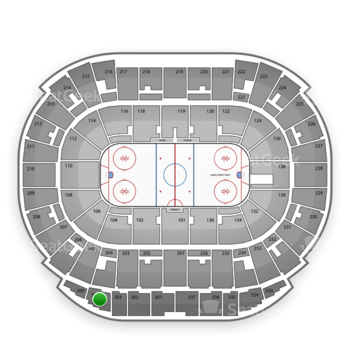 Edmonton Oilers at Northlands Coliseum Section 304 View