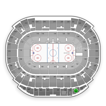 Edmonton Oilers at Northlands Coliseum Section 334 View