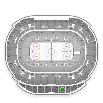 Edmonton Oilers at Northlands Coliseum Section 336 View