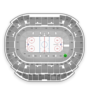 Edmonton Oilers at Rexall Place Section 132 View