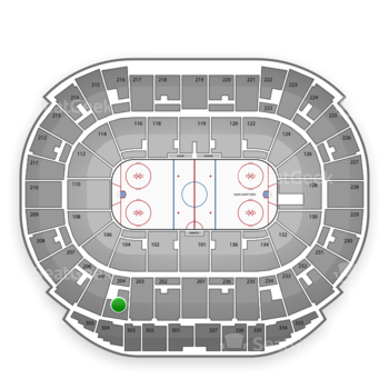 Edmonton Oilers at Rexall Place Section 204 View