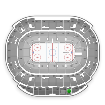 Edmonton Oilers at Rexall Place Section 335 View