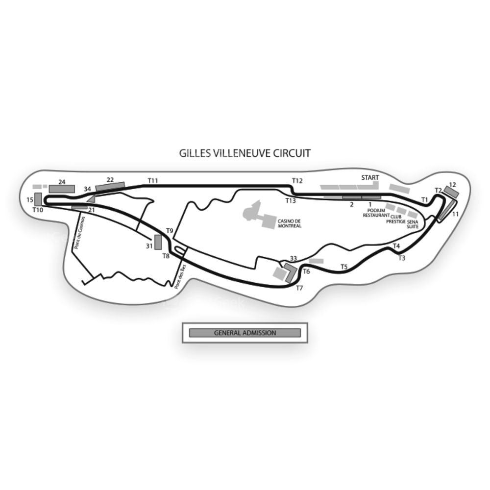 Gilles Villeneuve Circuit Seating Chart F1