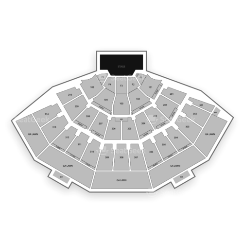 American Family Insurance Amphitheater Seating Chart Map Seatgeek