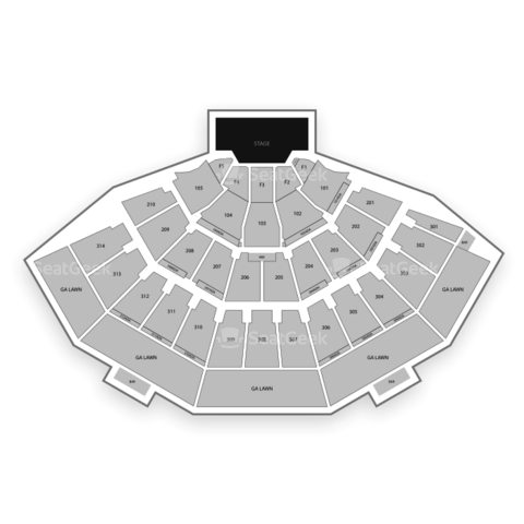 Marcus Amphitheater seating chart Summerfest