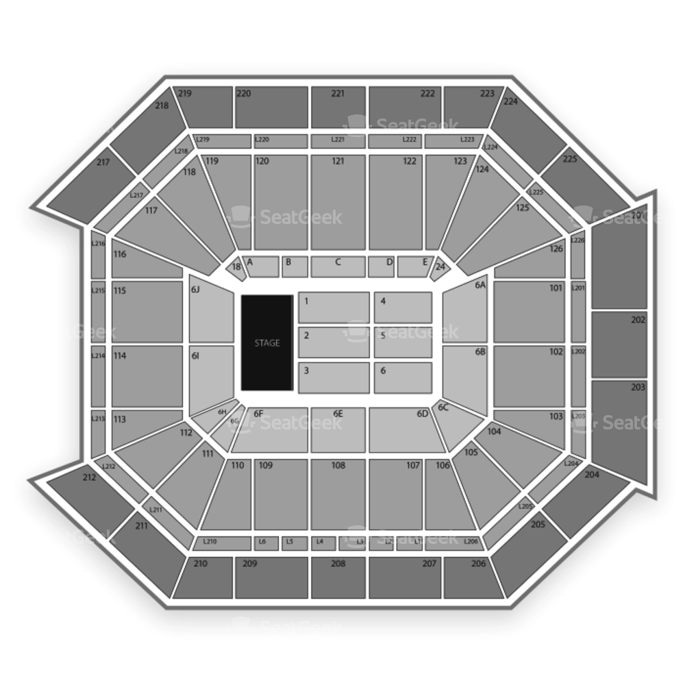 Petersen Events Center Seating Chart & Map