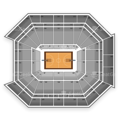 Petersen Events Center seating chart Pittsburgh Panthers Basketball