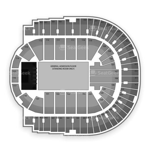 O2 Arena - London Seating Chart Concert