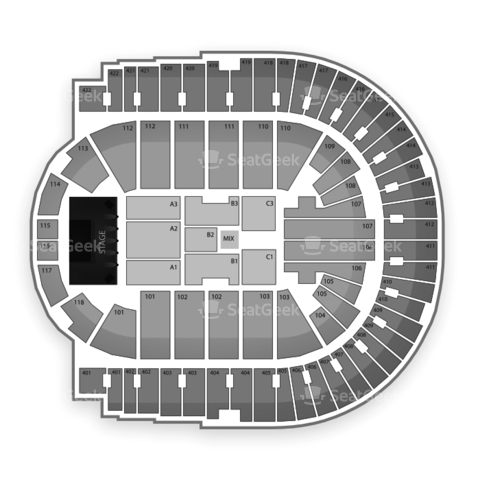 O2 Arena - London seating chart Eagles