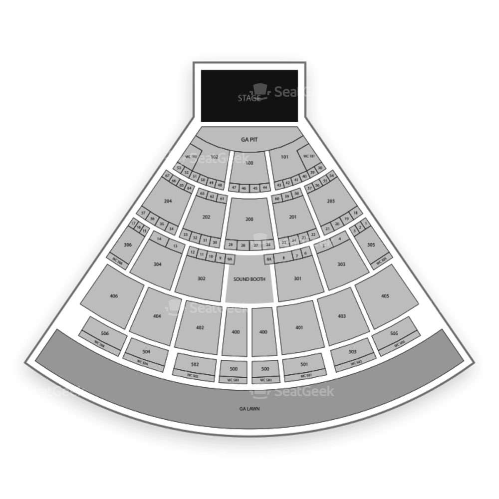 Darien Lake Performing Arts Center Seating Chart Concert