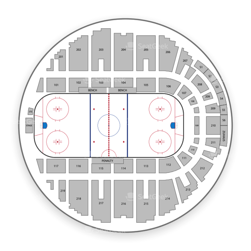 Utica Comets Seating Chart