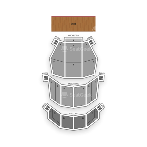 Colonial Theatre - Boston seating chart Tuck Everlasting