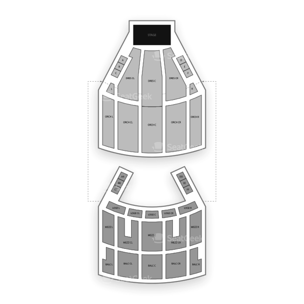 KeyBank State Theatre Seating Chart Theater