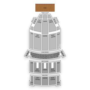 State Theatre - The Playhouse Square Center Seating Chart Comedy