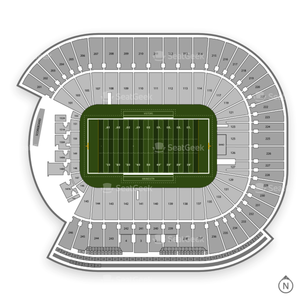 Minnesota Golden Gophers Football Seating Chart