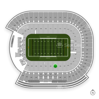 Minnesota Golden Gophers Football at TCF Bank Stadium Section 139 View