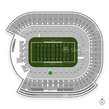 Minnesota Golden Gophers Football at TCF Bank Stadium Section 141 View