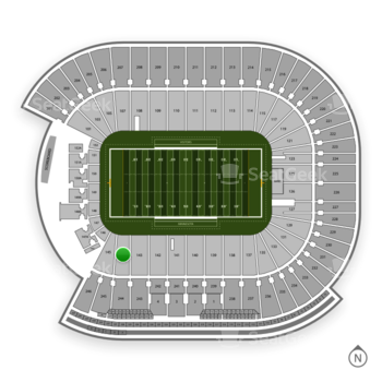 Minnesota Golden Gophers Football at TCF Bank Stadium Section 144 View