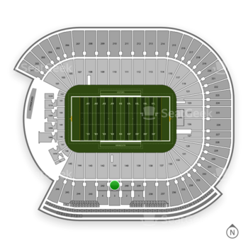 Minnesota Golden Gophers Football at TCF Bank Stadium Section 241 View