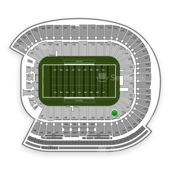 Minnesota Golden Gophers Football at TCF Bank Stadium Section 135 View