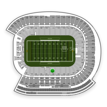 Minnesota Golden Gophers Football at TCF Bank Stadium Section 140 View