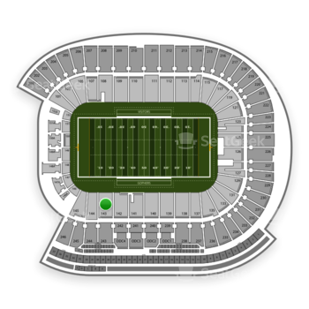 Minnesota Golden Gophers Football at TCF Bank Stadium Section 143 View