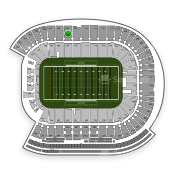 Minnesota Golden Gophers Football at TCF Bank Stadium Section 209 View