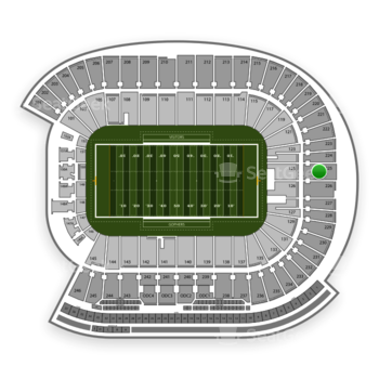 Minnesota Golden Gophers Football at TCF Bank Stadium Section 225 View