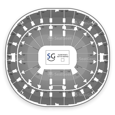 Key Arena seating chart Rat City Rollergirls