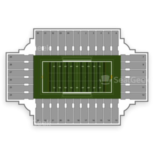 North Dakota State Bison Football Seating Chart
