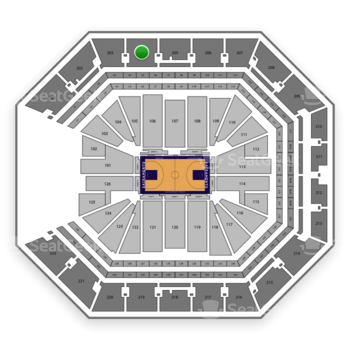 NBA at Golden 1 Center Section 204 View