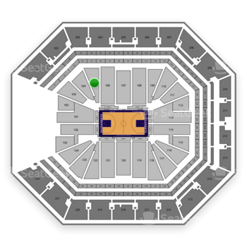 Sacramento Kings at Golden 1 Center Section 105 View