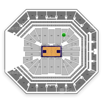 Sacramento Kings at Golden 1 Center Section 109 View