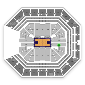 Sacramento Kings at Golden 1 Center Section 114 View