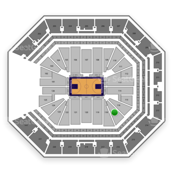 Sacramento Kings at Golden 1 Center Section 117 View