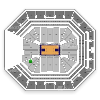 Sacramento Kings at Golden 1 Center Section 124 View