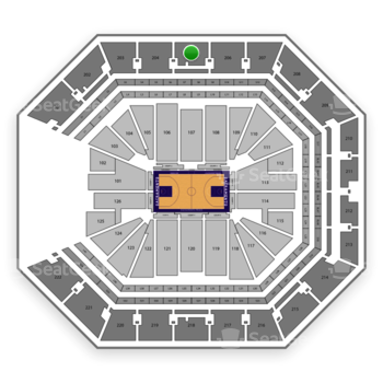 Sacramento Kings at Golden 1 Center Section 205 View